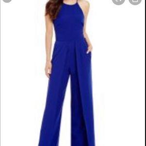 Belle BADGLEY MISCHKA Royal Blue Jumpsuit